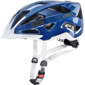 UVEX Active Fietshelm, blue/white